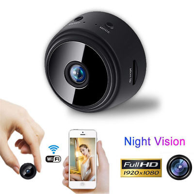 1080P Full HD Mini Spy IP WIFI Camera Wireless Hidden Security DVR Night Vision