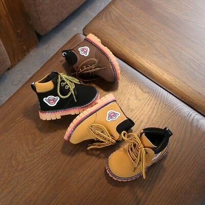 Winter Warm Army Martin-Boots Toddler Baby Kids Girl Boy Leather Sneakers Shoes