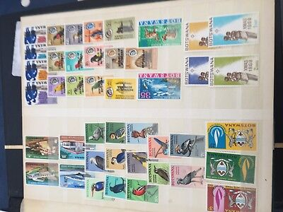 Botswana mint & nhm stamps many sets incl sheets good cat value