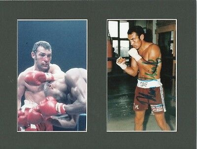 ALAN MINTER Signed 10x8 Photo Display Middleweight BOXING CHAMPION COA