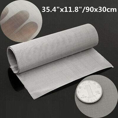 AU 30x90cm 100 Micron Mesh Stainless Steel Woven Wire Cloth Screen Filter Sheet
