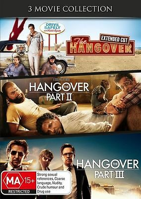 The Hangover Trilogy (DVD, 3-Disc Set) R-4-LIKE NEW-FREE POST IN AUSTRALIA