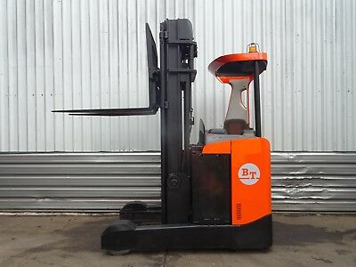 TOYOTA / BT RRE250. 6300mm LIFT. USED ELECTRIC REACH FORKLIFT TRUCK. (#2050)