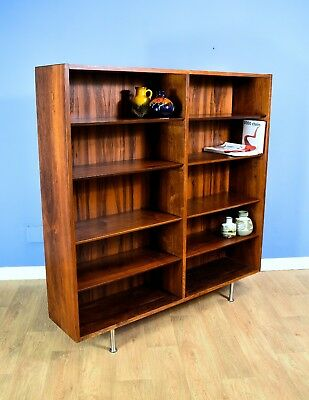 Mid Century Retro Vintage Danish Rosewood Bookcase Shelving Storage Unit 1970s