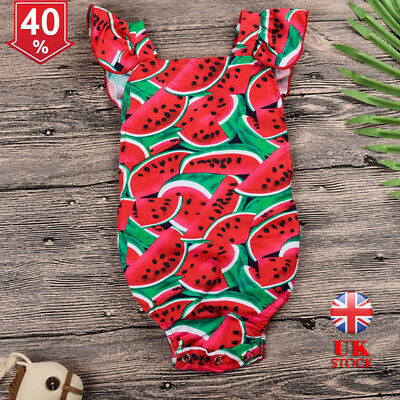 3db75a16432 Newborn Girl Watermelon Print Short Sleeve Romper Baby Outfits Bodysuit  Jumpsuit