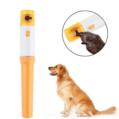 Pet Dog Cat Petpedicure Claw Electric Nail Trimmer Clipper Grooming Nail File