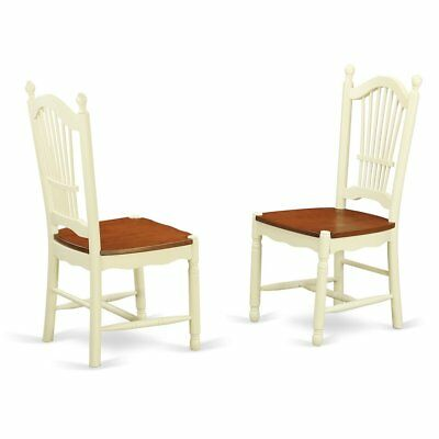 Dover  Dining  Room  Chairs  With  Wood  Seat  -  Finished  in  Buttermilk ...