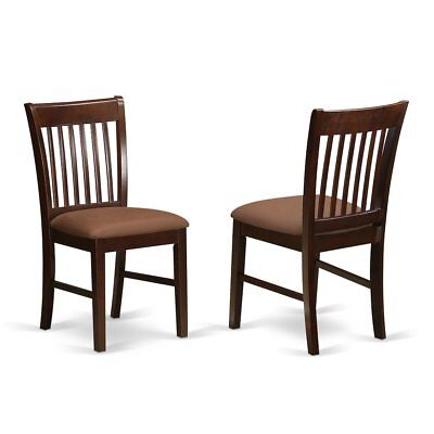Norfolk  Dining  room  chair  Upholstered  Seat  -Mahogany  Finish.,  Set ...