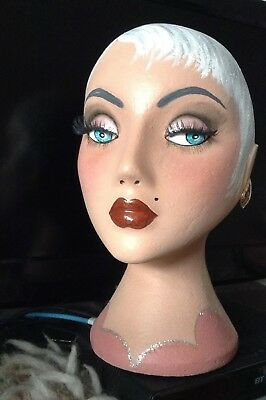 Hand Painted Vintage Style Manniquin Head