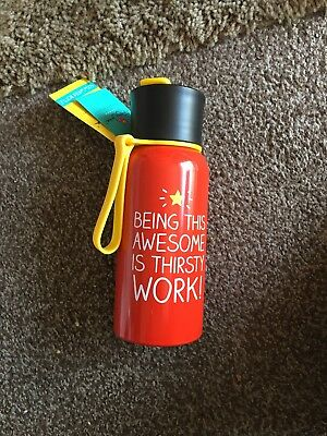 Happy Jackson 'Being This Awesome' Stainless Steel Water Bottle , New With Tags