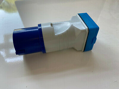 Maypole 230V 16A Plug to BS Socket Adaptor for Caravan Automotive Towing MP3758