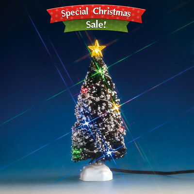Lemax Village Collection Christmas Village Tree Multi Light Evergreen Tree Mediu
