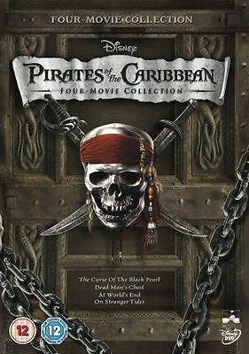 Pirates Of The Caribbean 1 - 4 Dvd Box Set Collection Part 1 2 3 4 Caribean