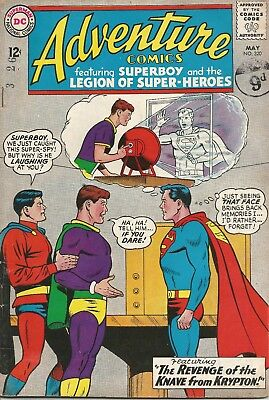 ADVENTURE COMICS Revenge of the Knave from Krypton DC Comic May No. 320 1964