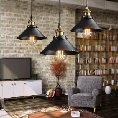 Ceiling Lamp Vintage Industrial Metal Hanging Pendant Light Fixture