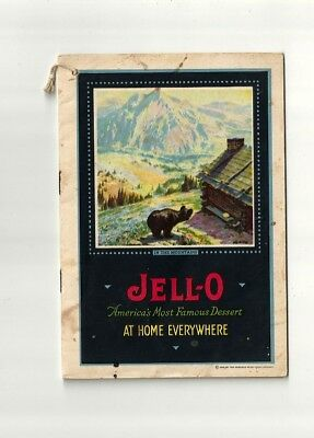 1922 Antique Collectible Exquisite JELL-O Dessert Booklet with insert