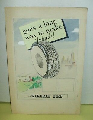 Vintage General Tire Advertising Poster - Rough Draft