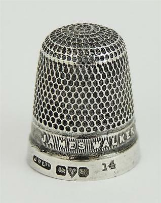 Lovely GEORGE V STERLING SILVER THIMBLE 'SIZE 14' CHESTER 1923 James Walker