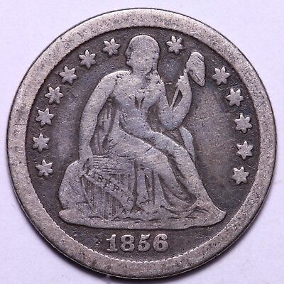 F+ 1856-O Seated Liberty Dime                  K7KNT