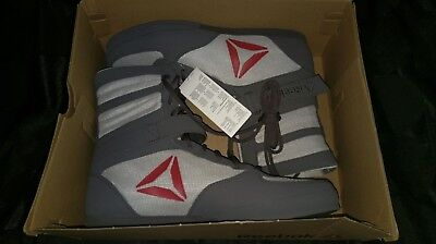 REEBOK BOXING BOOTS 10.5 (UK) Ash Grey/Skull Grey/Excellent Red/White
