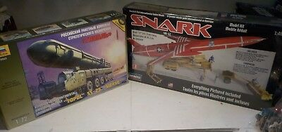 scale model kits SNARK CRUISE MISSLE NEW IN SEALED PACKAGE & RUSSIAN I.B.M.