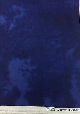 QUILTERS SHADOW Craft Fabric STOF cotton material navy blue FQ#4516
