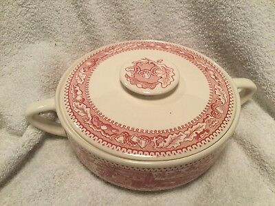 Royal China MEMORY LANE PINK Casserole Dish EXCELLENT