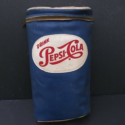 VINTAGE PEPSI COLA INSULATED 2 BOTTLE CARRIER - circa 1950'S