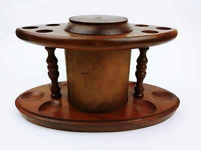 Vintage Wood Pipe Holder / Stand