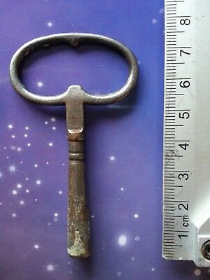 Size 7 Antique Vintage Clock Winding Key Mantle Grandfather Retro Steampunk