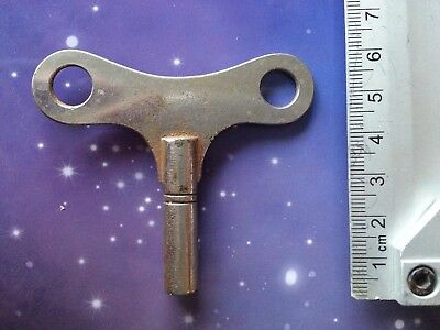 Size 9 Antique Vintage Clock Winding Key Mantle Grandfather Retro Steampunk