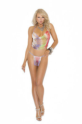 Fringe Cami Top & G-String! One Size! Exotic Clothing Adult Woman