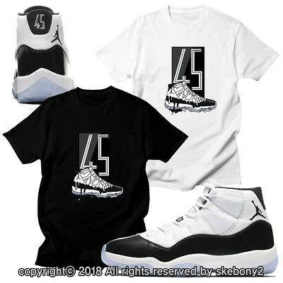 4738fcb0 Custom T Shirt Matching Style Of Air Jordan Xi Concord Black Jd 11-4-