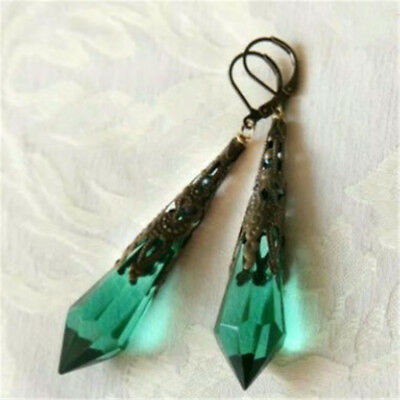 Retro Boho Women Earrings Jewelry Dangle Green Engagement Wedding Fashion