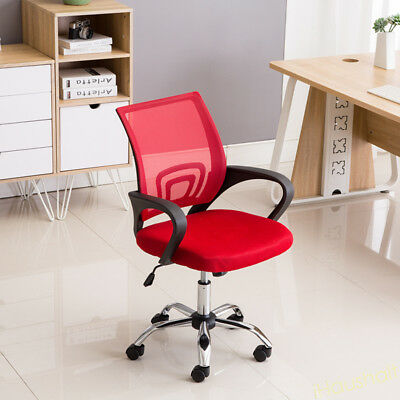 Red Mesh Breathable Office Chair 360 Swivel Computer Desk Task Adjustable Height