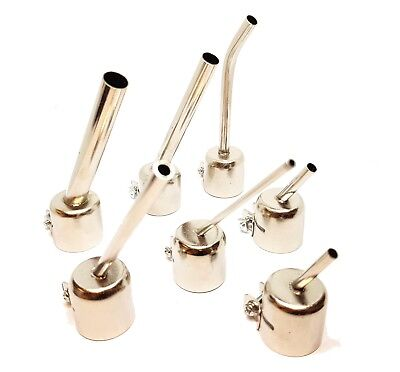 7 Piece Elongated Nozzle Set For Hot Air Rework Station