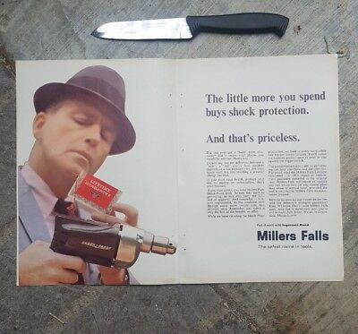 1966 print ad-shock protection-Miller Falls Shock Proof Tools-Lifetime guarentee
