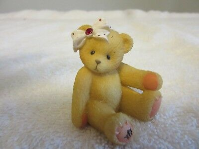 ENESCO 1998  AVON Cherished Teddies Sparkles Mini-Figurine July Ruby