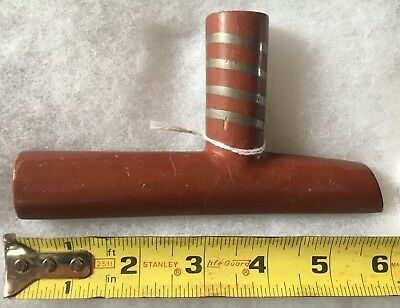 Antique Plains Indian Catlinite T Bowl Pipe Early 20th Century Inlay