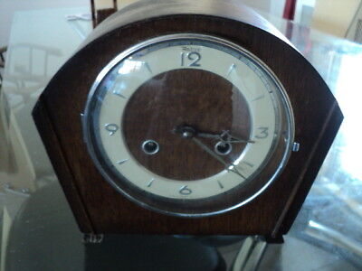 Antique Andrew 8 Day Mantel Clock With Key Is Working But Not Striking
