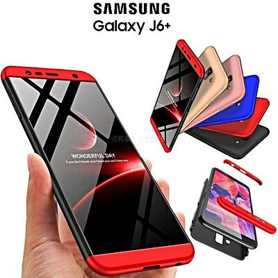 COVER per Samsung Galaxy J6+ PLUS CUSTODIA Fronte Retro 360 ORIGINALE ARMOR CASE