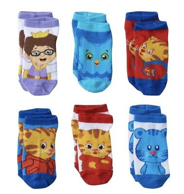 Daniel Tiger's Neighborhood Toddler Boys Socks 6 Pairs 2T-4T NWT