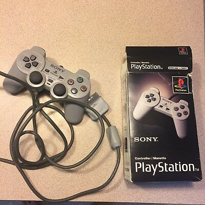 Official Sony PlayStation 1 Grey Controller PS1 OEM With Box