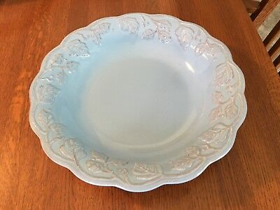 Longaberger Pottery ROUND SERVING / PASTA BOWL -  VINTAGE VINE Blue Mist