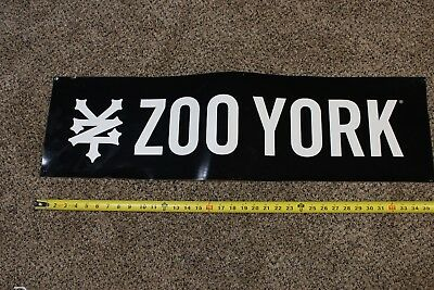 Large Decal Zoo York Black & White with Original Back