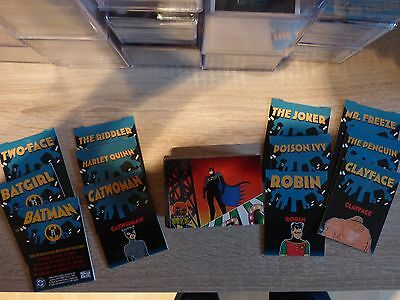 Batman & Robin Animated (Skybox 1995) Complete set (90 Cards)+12 Bonus