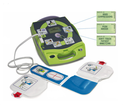 Zoll AED Defibrillator Plus W/ CPR-D Pads and Zoll OEM Batteries-2 YR Warranty