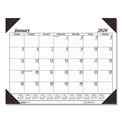 House of Doolittle Recycled Workstation-Size One-Color Monthly Desk Pad Calendar