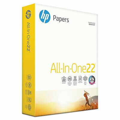 HP All-In-One Printing Paper 96 Brightness 22lb 8-1/2 x 11 White 500 Sht/Ream