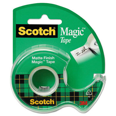 "Scotch Magic Tape in Handheld Dispenser 3/4"" x 300"" 1"" Core Clear 105"